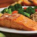 Apricot grilled salmon