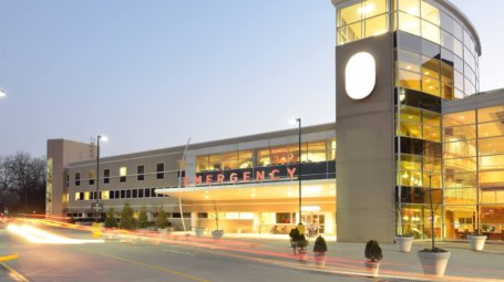 Exterior of a hopsital Emergency Room