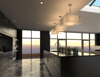 Modern Design Luxurious Kitchen Interior