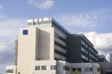 Modern hospital building